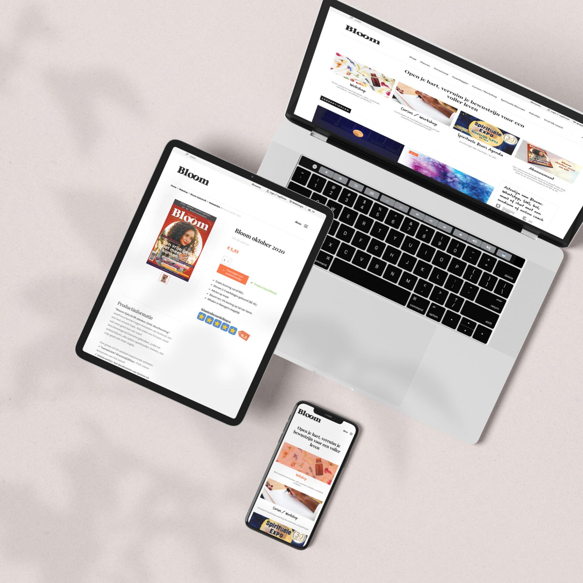 Dasmedia website ontwikkelen bloom headerbeeld